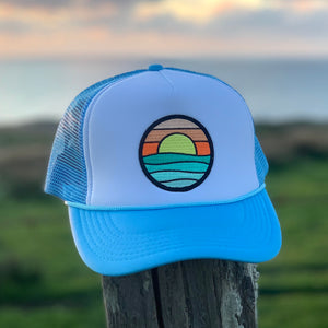 Foam-Front Trucker (Sky/White) with Serenity Patch