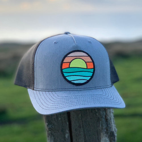 Curved-Brim Trucker (Grey/Black) with Serenity Patch