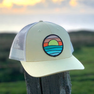 Curved-Brim Trucker (Yellow/Sand) with Serenity Patch