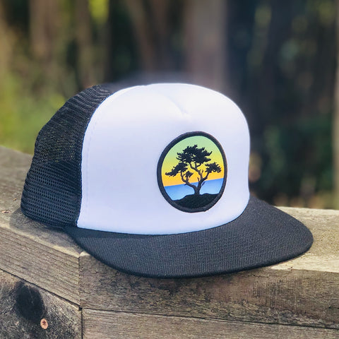 Foam-Front Trucker (Black/White) with Cypress Patch