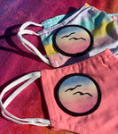 TWO Kids' Size Customized Face Masks (Pink+Rainbow)