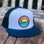 Flat-brim Foam Trucker (Navy/White) with Serenity Patch