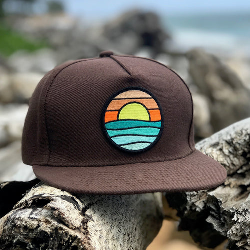 Flat-Brim Snapback (Brown) with Serenity Patch
