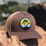 Curved-Brim Trucker (Brown/Tan) with Cypress Patch