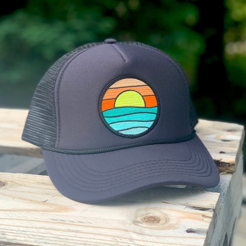 Foam-Front Trucker (Black) with Serenity Patch