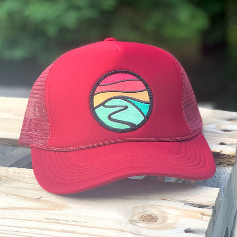 Foam-Front Trucker (Maroon) with Hilltop Patch