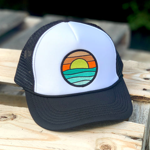 Foam-Front Trucker (Black/White) with Serenity Patch