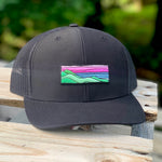 Curved-Brim Trucker (Black) with Ridgecrest Patch