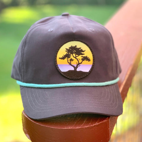 Classic Rope Hat (Navy/Teal) with Cypress Patch