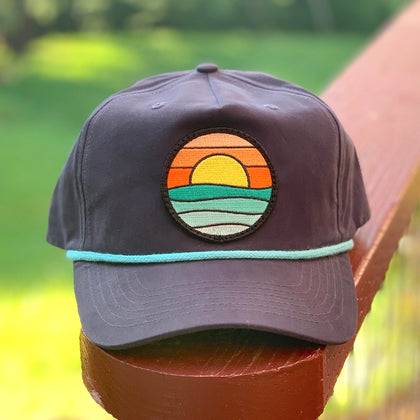 Classic Rope Hat (Navy/Teal) with Serenity Patch
