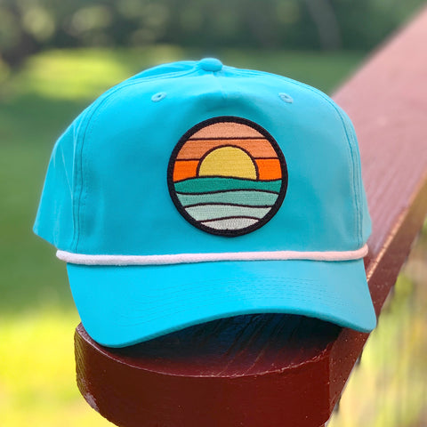 Classic Rope Hat (Teal/White) with Serenity Patch