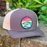 Curved-Brim Trucker (Brown/Sand) with Hilltop Patch