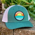 Curved-Brim Trucker (Green/Grey) with Serenity Patch