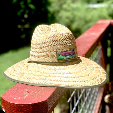 Straw Hat with Ridgecrest Patch