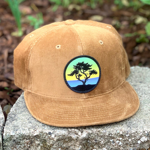 Corduroy Snapback (Brown) with Cypress Patch