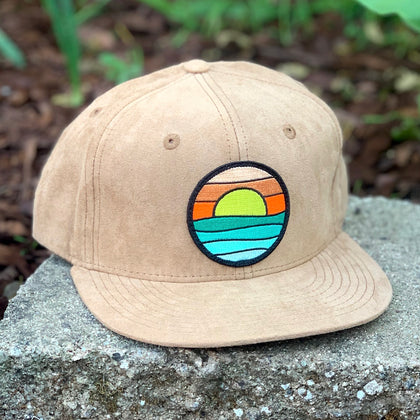 Suede Snapback (Tan) with Serenity Patch
