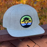 Flat-Brim Snapback (Grey) with Cypress Patch
