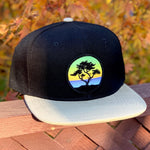Flat-Brim Snapback (Black/Tan) with Cypress Patch