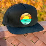 Flat-Brim Snapback (Black) with Serenity Patch
