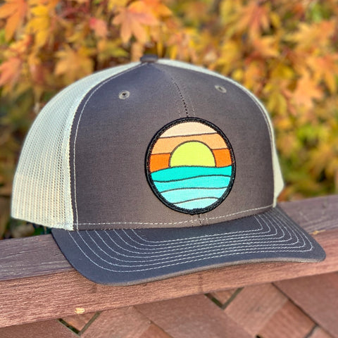 Curved-Brim Trucker (Brown/Sand) with Serenity Patch