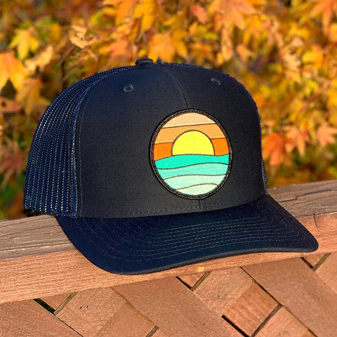 Curved-Brim Trucker (Black) with Serenity Patch