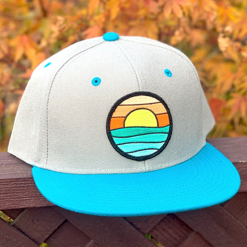 Flat-Brim Snapback (Grey/Teal) with Serenity Patch