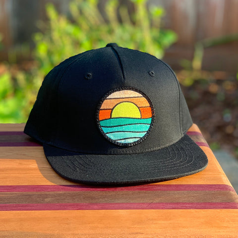Kids' Snapback (Black) with Serenity Patch