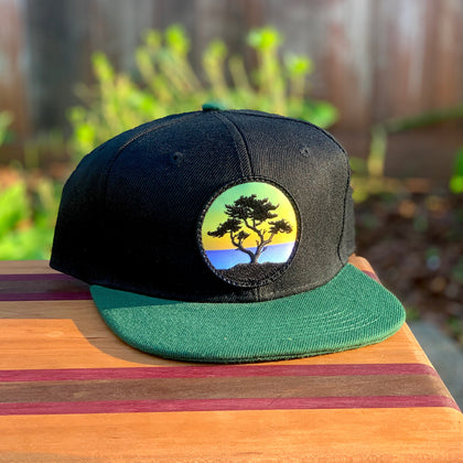 Kids' Snapback (Black/Green) with Cypress Patch