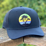 Curved-Brim Trucker (Black) with Cypress Patch