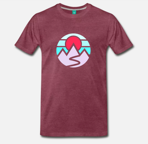 Mountains Tee (Maroon)