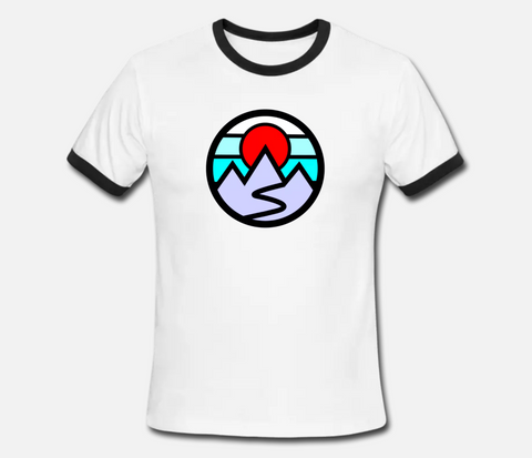 Mountains Ringer Tee