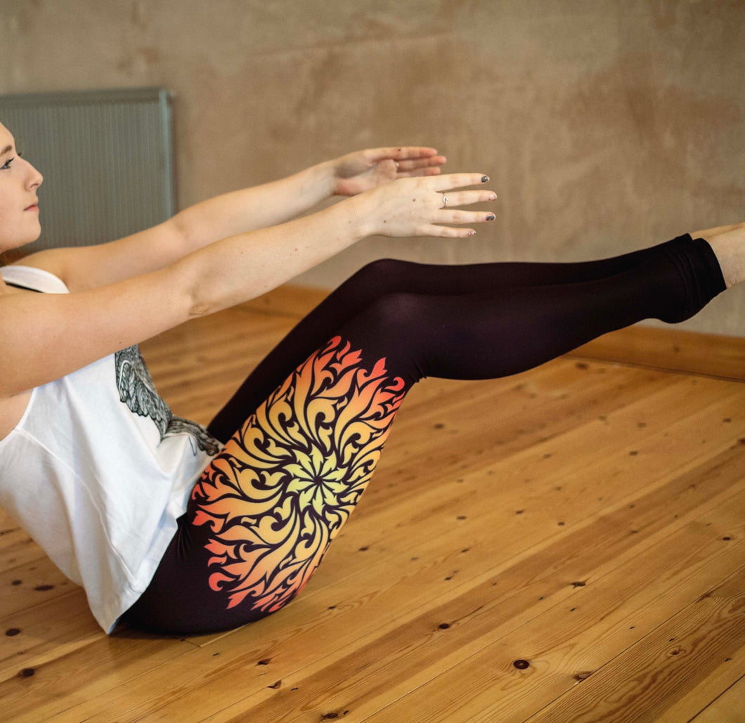 Fire Mandala Leggings