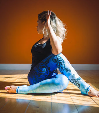 Blue Ocean Turtle Leggings