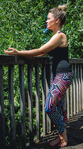 Glow Stick Abstract Leggings