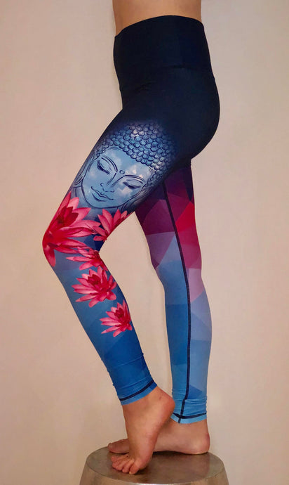 Meditating Buddha Leggings