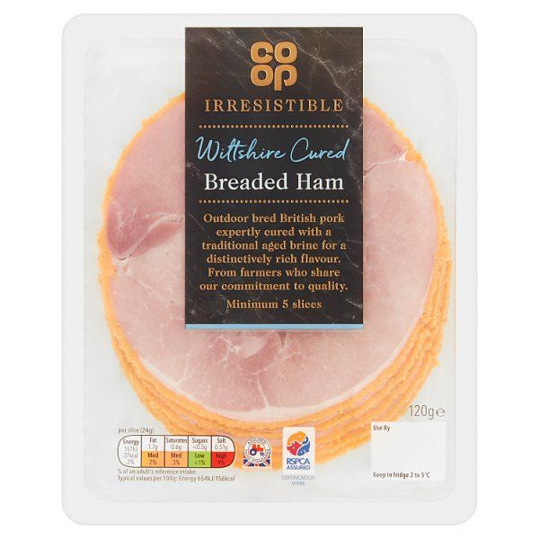Co op Wiltshire Cured Breaded Ham 120g