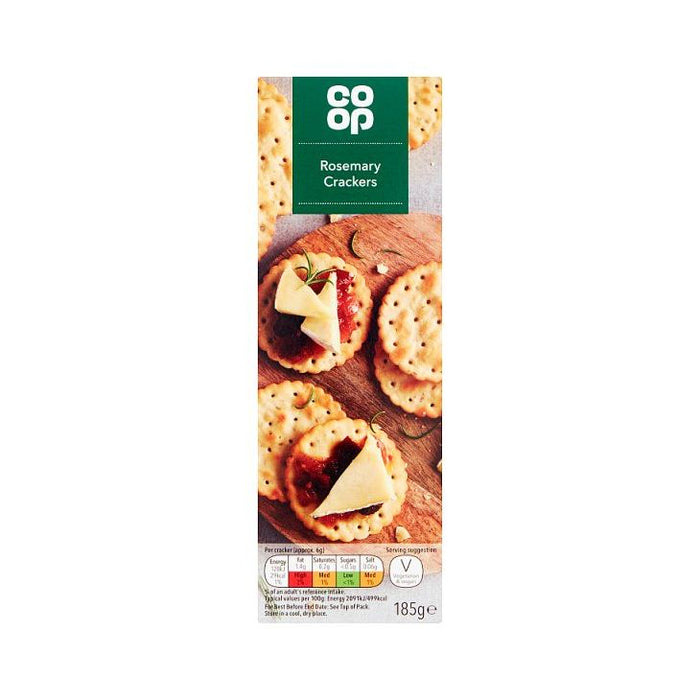 Co-op Rosemary Crackers 185g