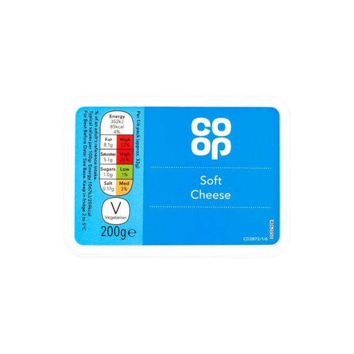 Co op Full Fat Soft Cheese 200g