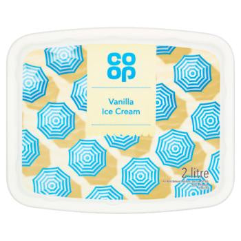 Co Op Creamy Vanilla Ice Cream 2ltr