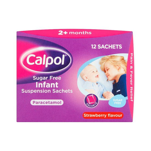 Calpol Sugar Free Infant Suspension Strawberry x 12
