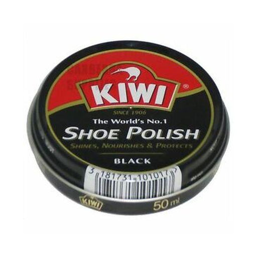 Kiwi Black Shoe Polish Tin 50ml