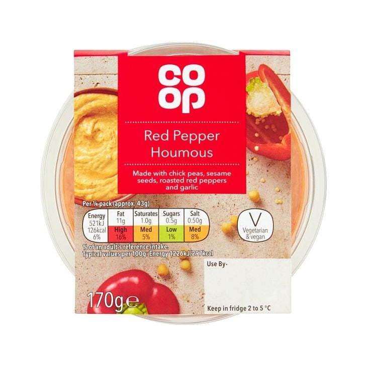 Co-op Red Pepper Houmous Dip