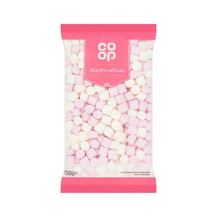 Co-op Pink & White Marshmallows 150g