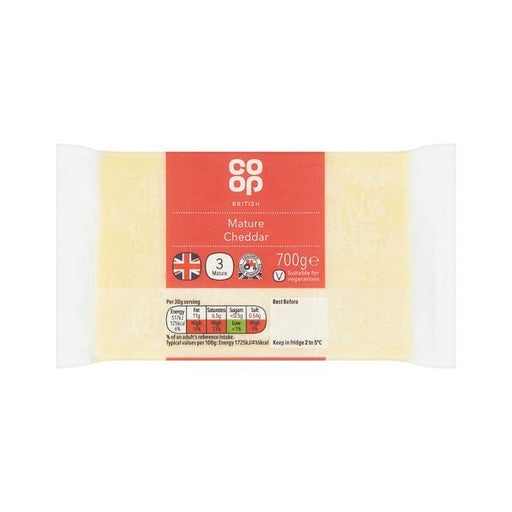 Co-op Mature White Cheddar 700g