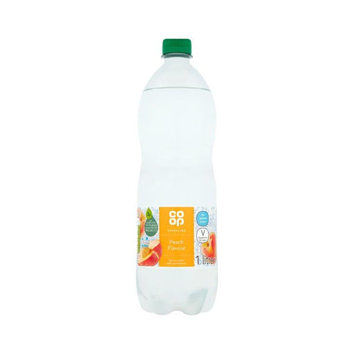 Co op Peach Sparkling Spring Water 1Ltr