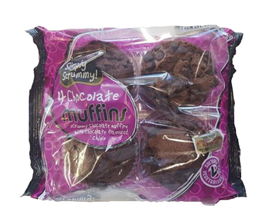 Simply Scrummy Double Choc Muffin 4-Pack