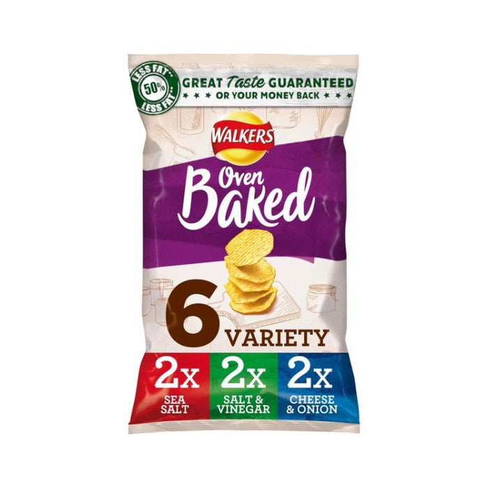 Walkers Oven Baked Variety 25g 6-Pack