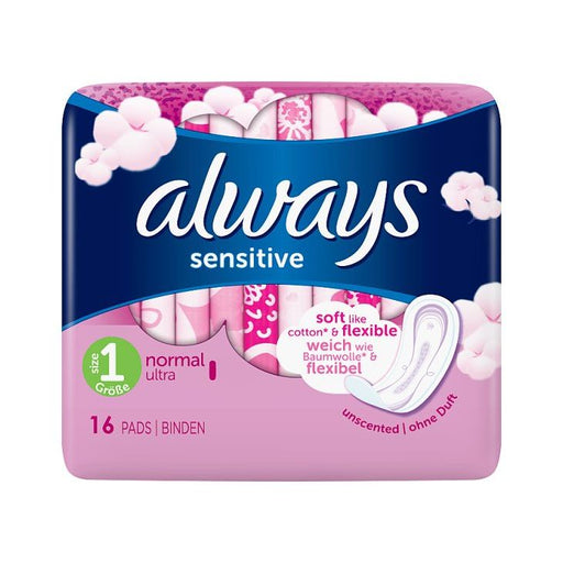 Always Sensitive Normal Ultra Sanitary Towels x 16