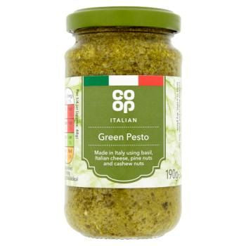 Co-op Italian Green Pesto Sauce 190g