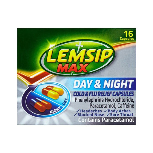 Lemsip MAX Day & Night Cold & Flu Relief Capsules x 16